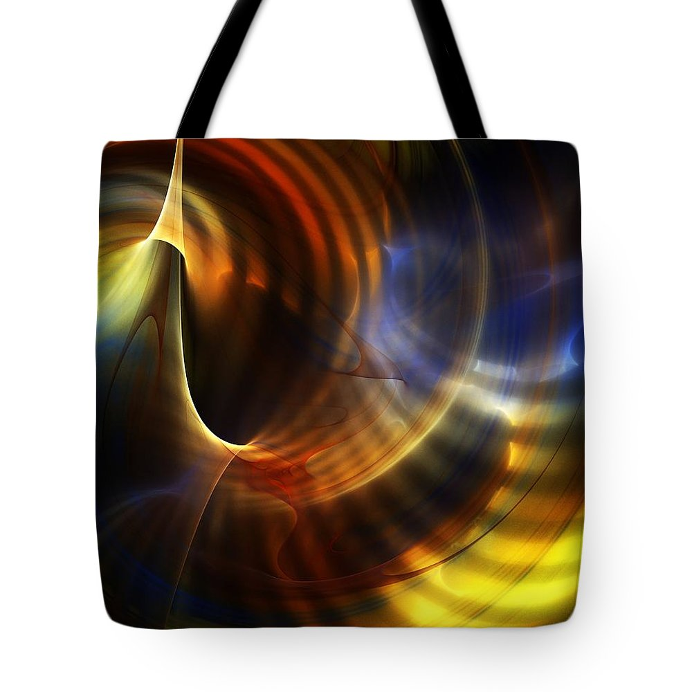 Fine Art Tote Bag featuring the digital art Abstract 040511 by David Lane