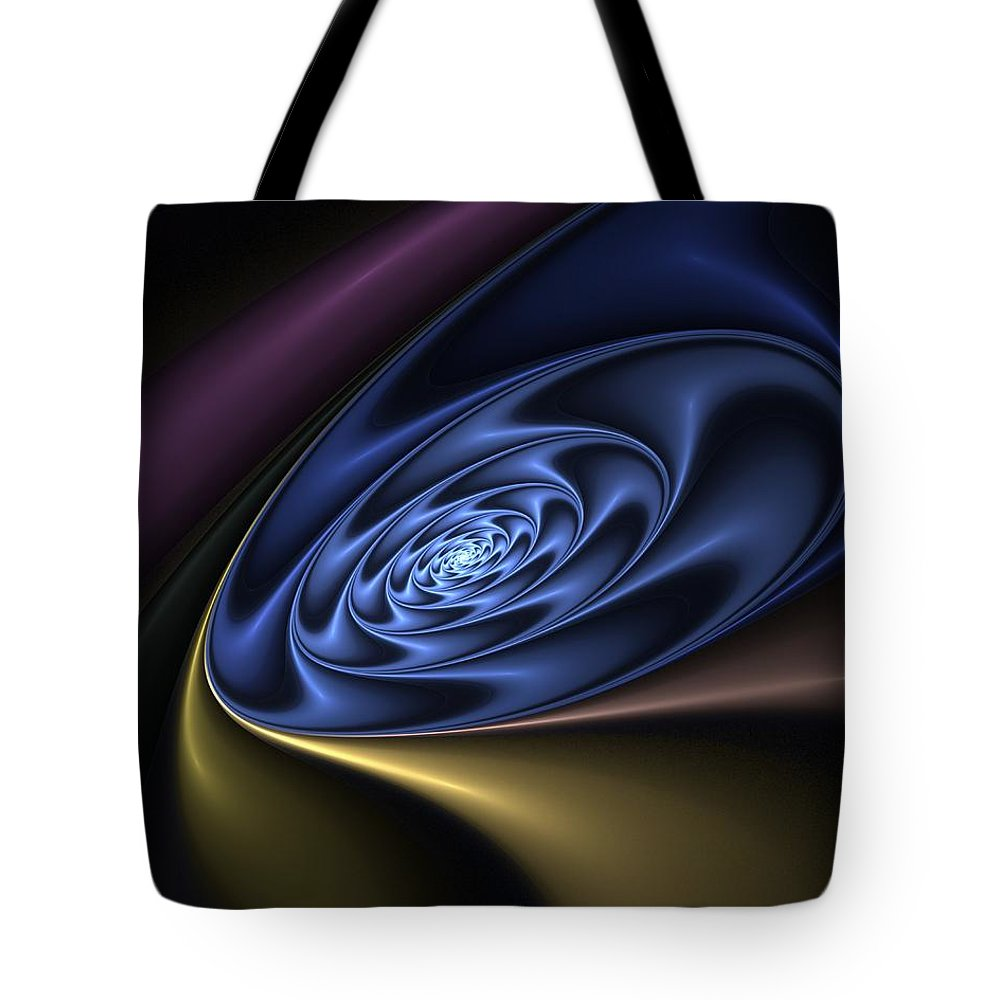 Digital Painting Tote Bag featuring the digital art Abstract 040610 by David Lane