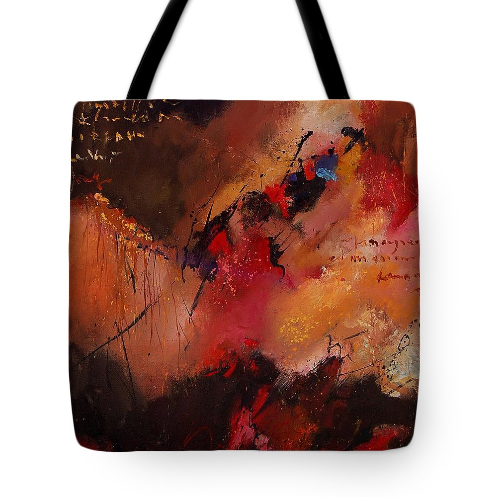 Abstract Tote Bag featuring the painting Abstract 0408 by Pol Ledent