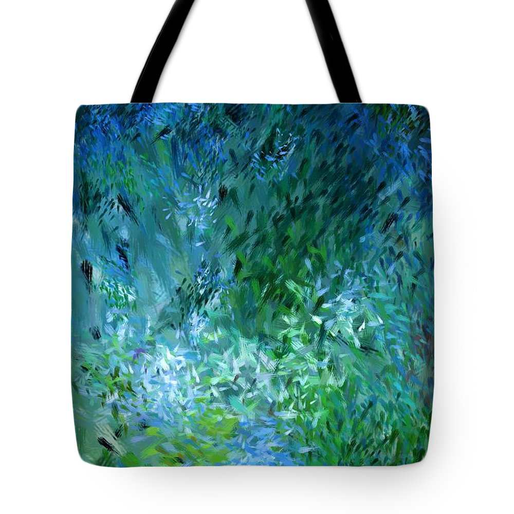Abstract Tote Bag featuring the digital art Abstract 05-25-09 by David Lane