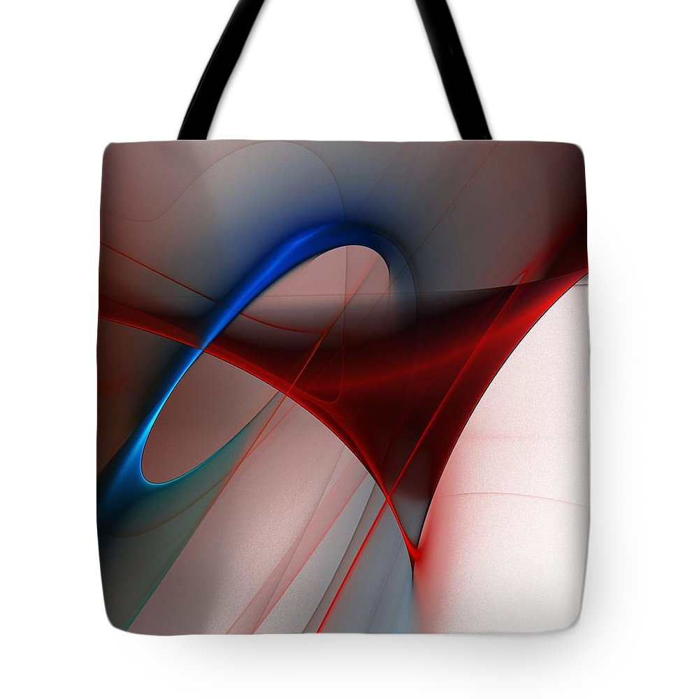 Digital Painting Tote Bag featuring the digital art Abstract 052510 by David Lane