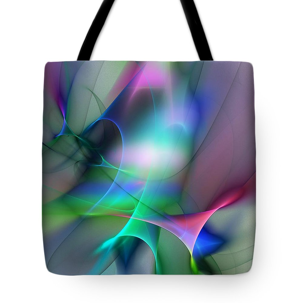 Digital Painting Tote Bag featuring the digital art Abstract 053010 by David Lane