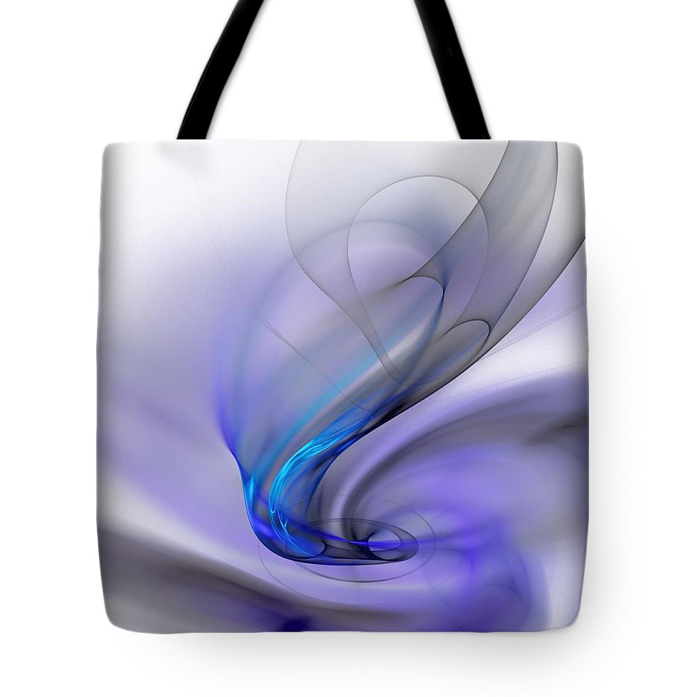 Digital Painting Tote Bag featuring the digital art Abstract 053110 by David Lane