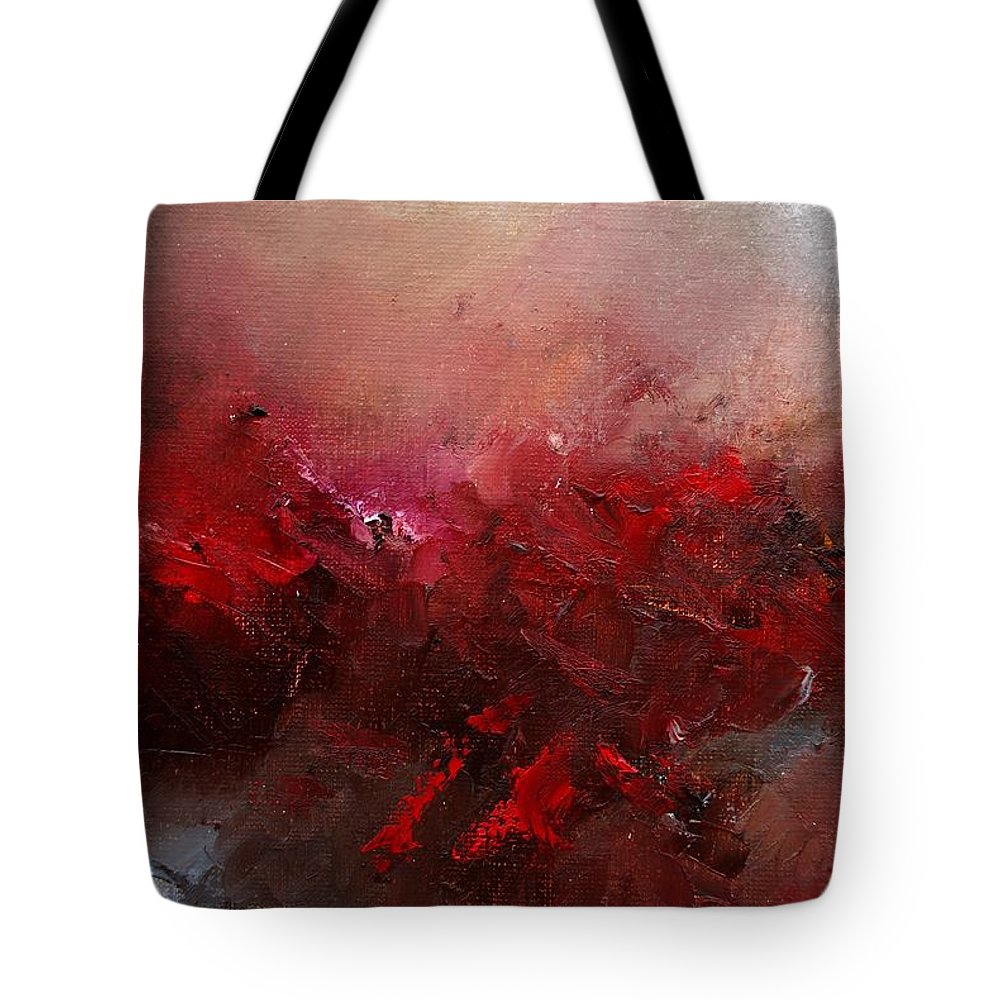 Abstract Tote Bag featuring the painting Abstract 056 by Pol Ledent