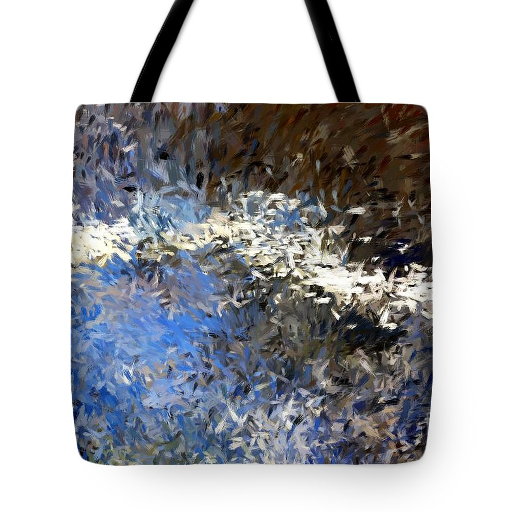 Abstract Tote Bag featuring the digital art Abstract 06-03-09b by David Lane
