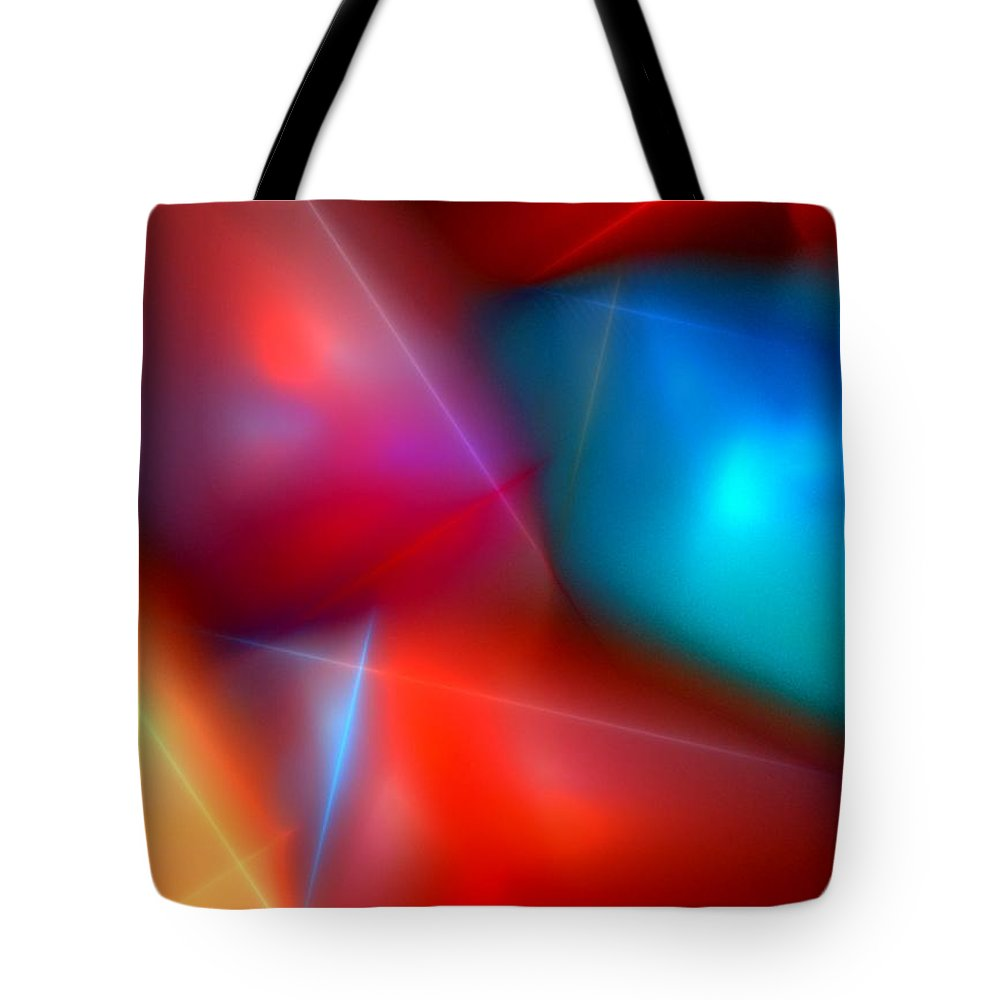 Digital Painting Tote Bag featuring the digital art Abstract 060110 by David Lane