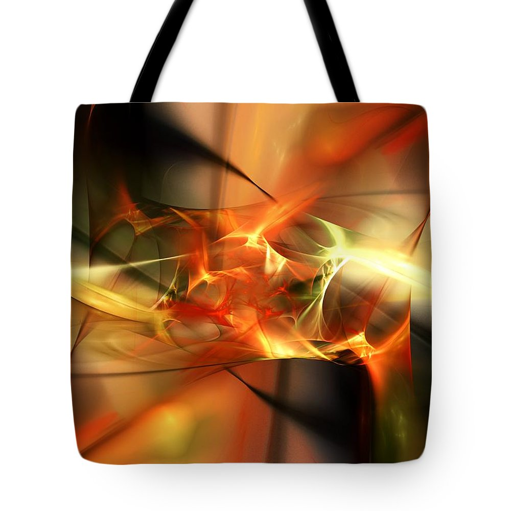 Digital Painting Tote Bag featuring the digital art Abstract 060110a by David Lane