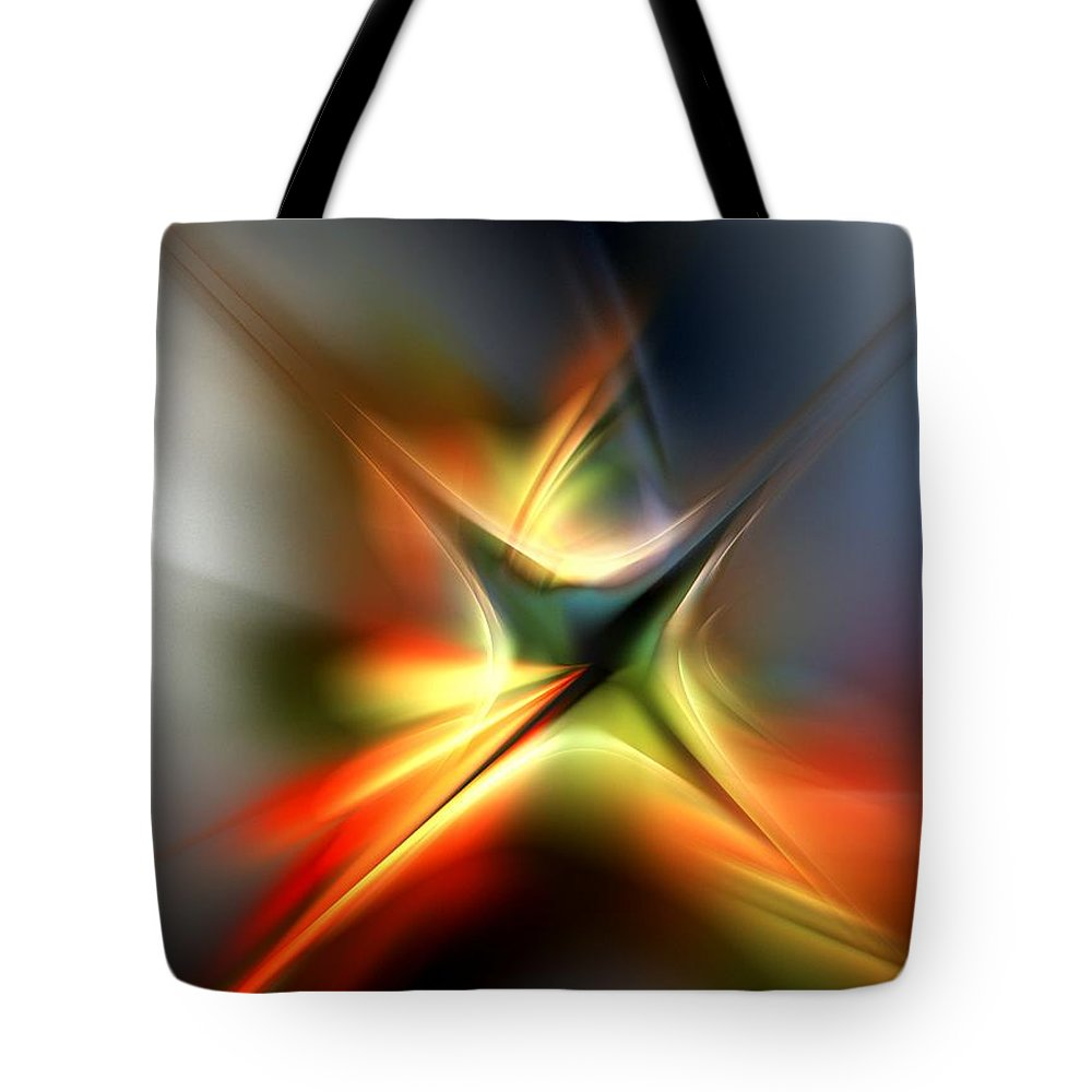 Digital Painting Tote Bag featuring the digital art Abstract 060310a by David Lane