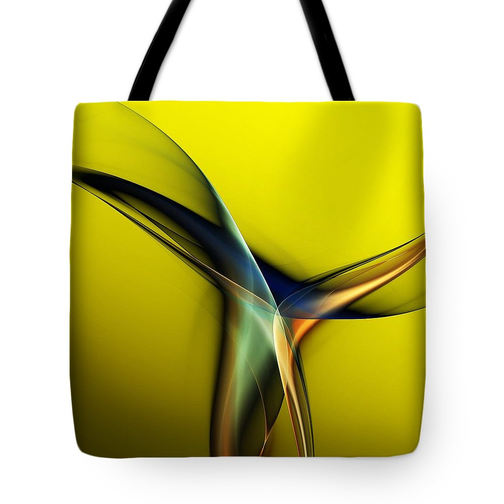 Fine Art Tote Bag featuring the digital art Abstract 060311 by David Lane