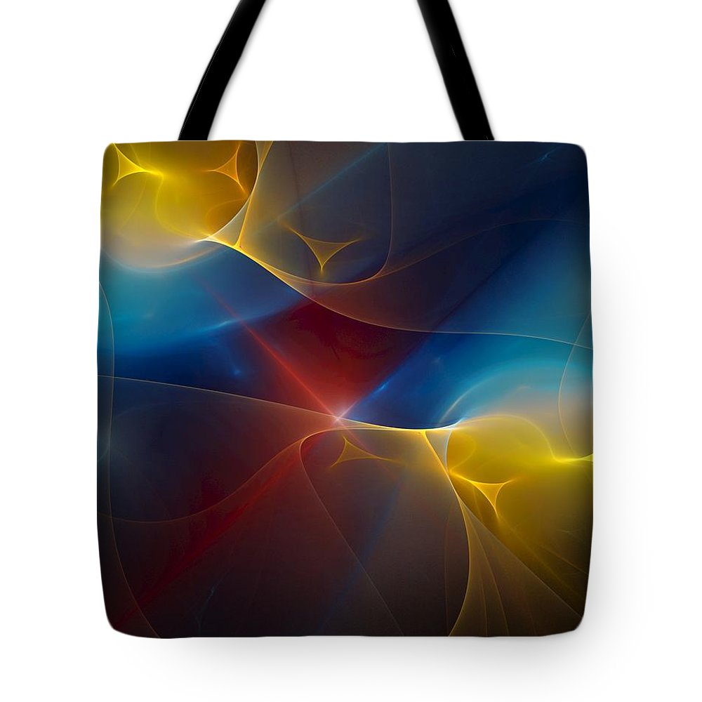 Digital Painting Tote Bag featuring the digital art Abstract 060410 by David Lane