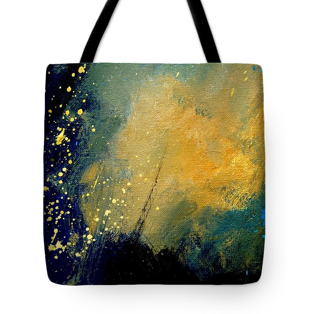 Abstract Tote Bag featuring the painting Abstract 061 by Pol Ledent