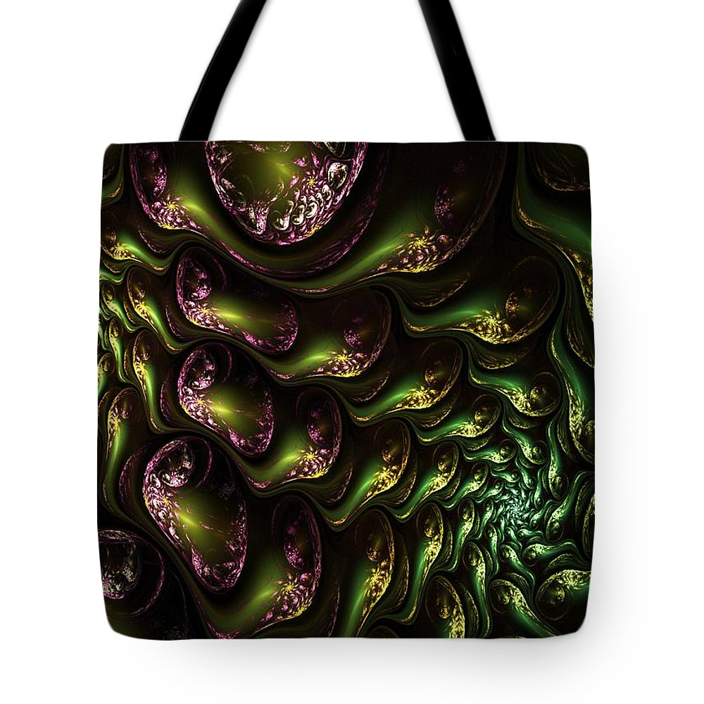 Expressionism Tote Bag featuring the digital art Abstract 062210 by David Lane