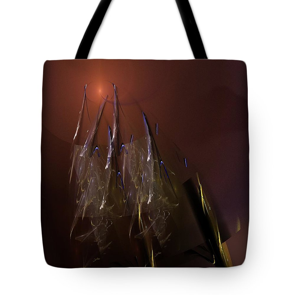 Fine Art Tote Bag featuring the digital art Abstract 072011a by David Lane