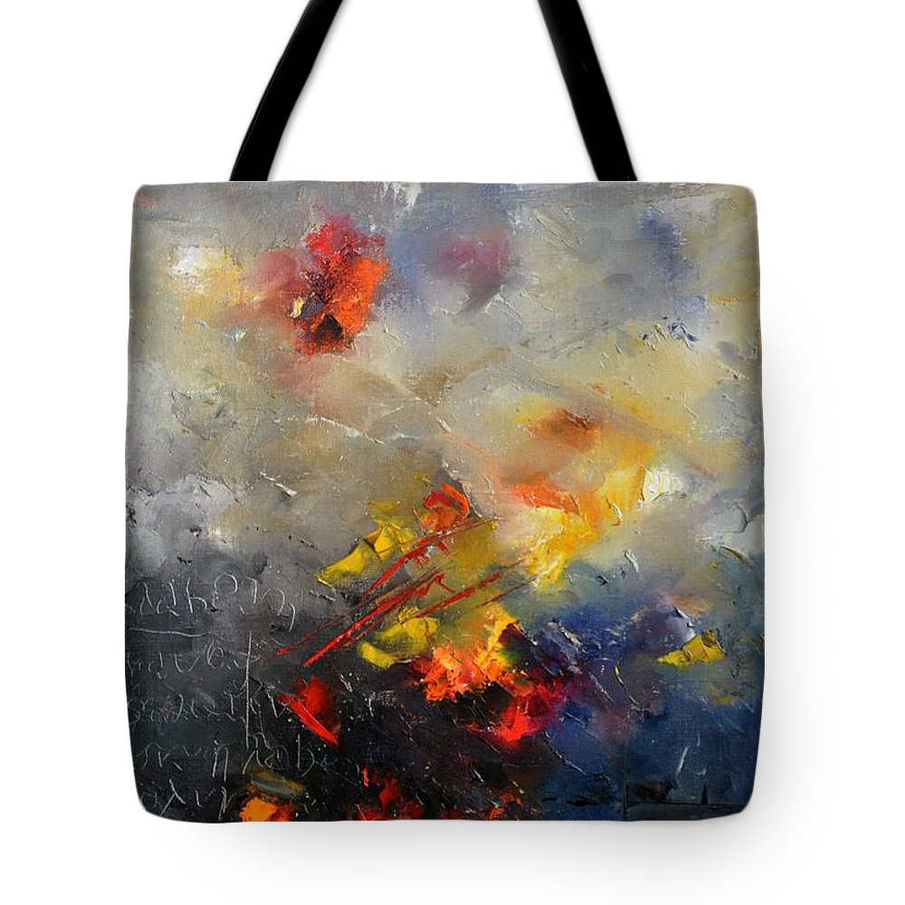 Abstract Tote Bag featuring the painting Abstract 0805 by Pol Ledent