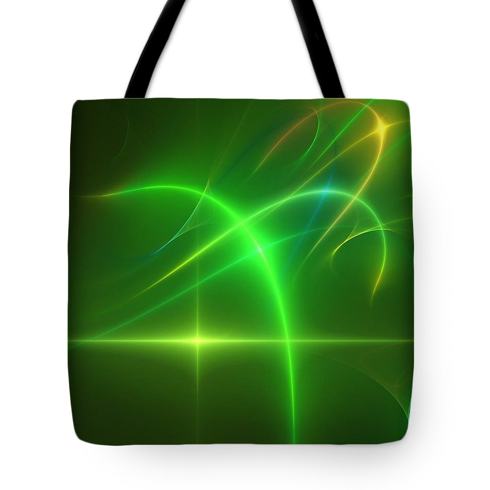 Abstract Tote Bag featuring the digital art Abstract 081210 by David Lane