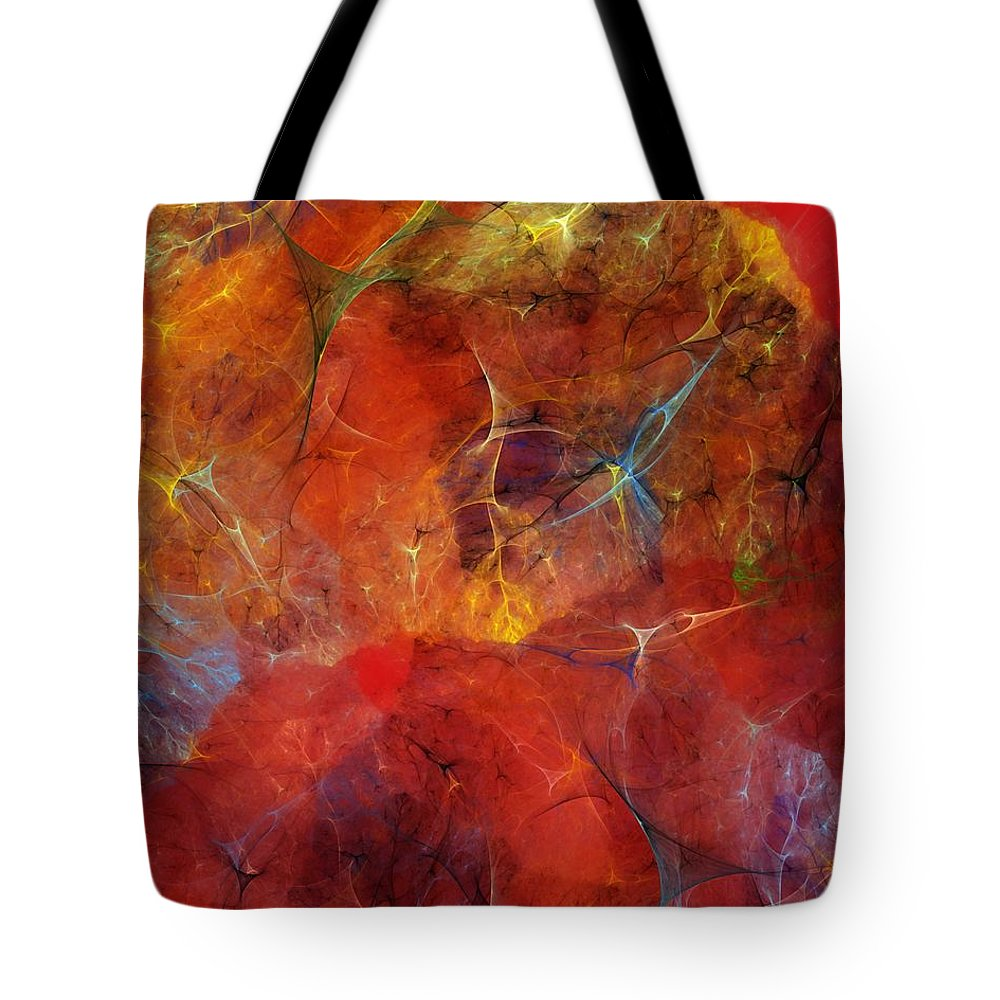 Abstract Tote Bag featuring the digital art Abstract 081310 by David Lane
