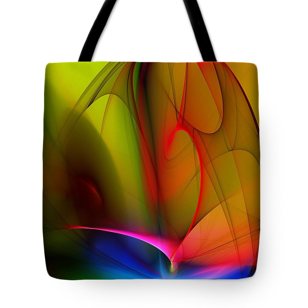 Fractal Tote Bag featuring the digital art Abstract 082910 by David Lane