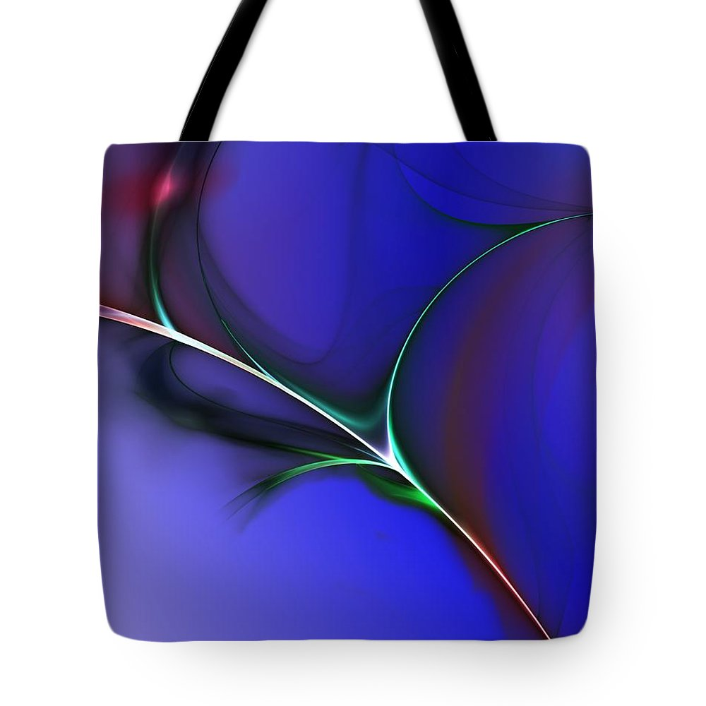 Fine Art Tote Bag featuring the digital art Abstract 083010 by David Lane