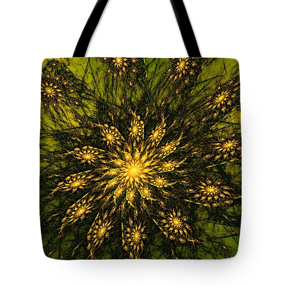 Fractal Tote Bag featuring the digital art Abstract 090110 by David Lane