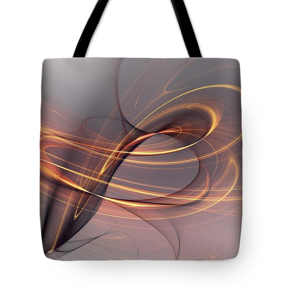 Fine Art Tote Bag featuring the digital art Abstract 090411 by David Lane