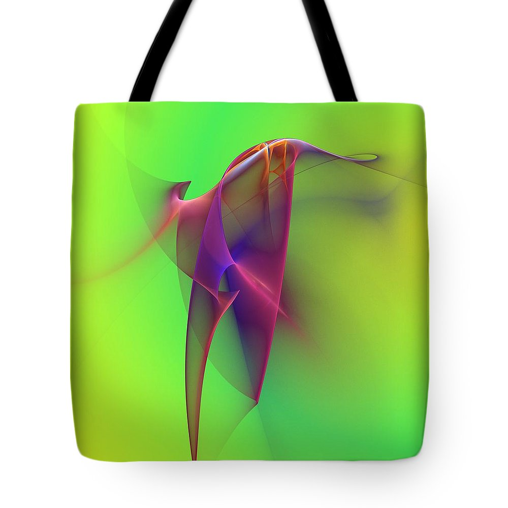 Abstracts Tote Bag featuring the digital art Abstract 091610 by David Lane