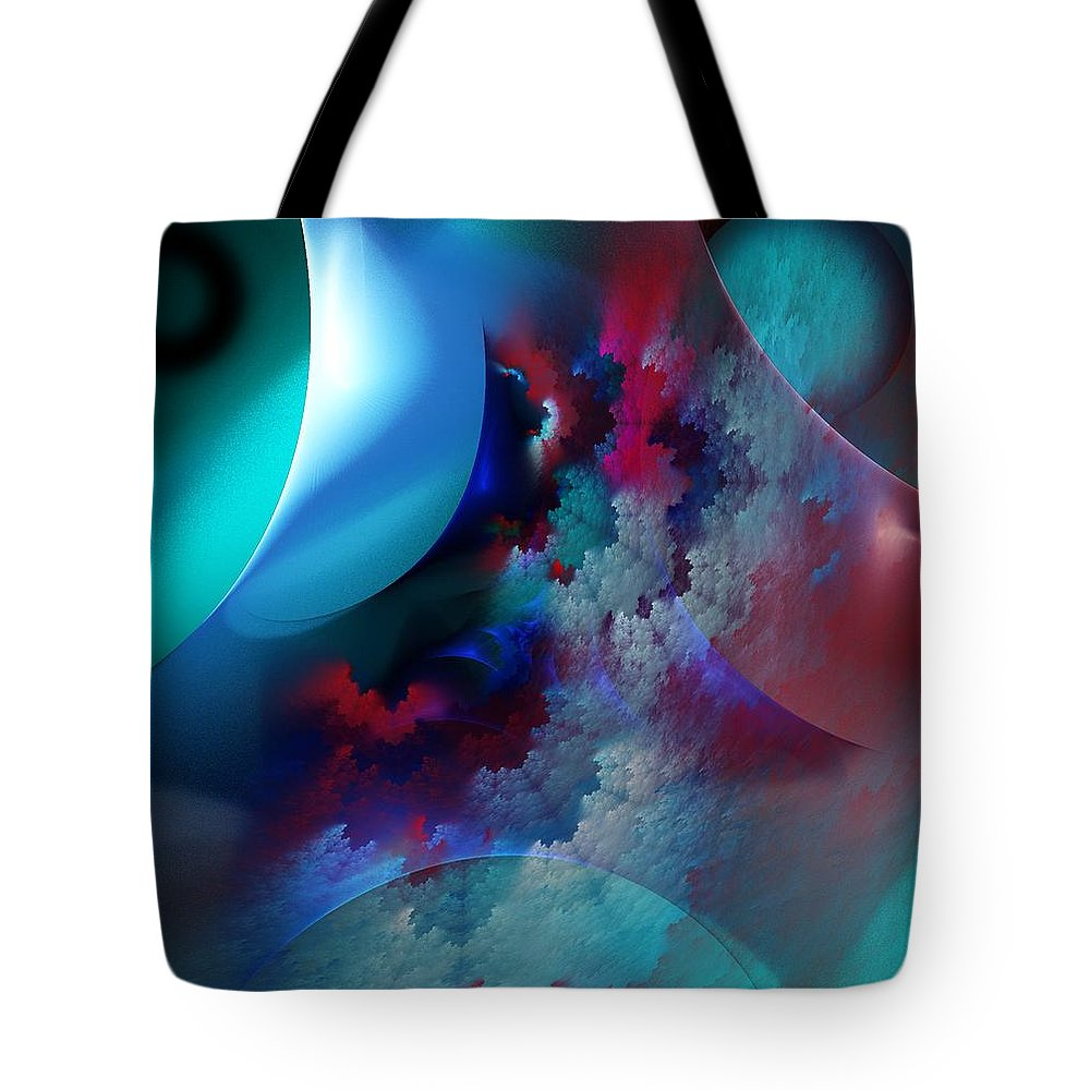 Fine Art Tote Bag featuring the digital art Abstract 0971711 by David Lane