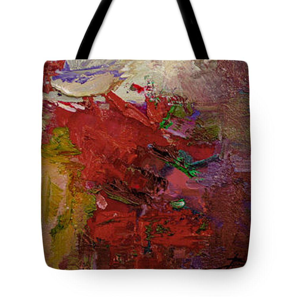 Abstract Tote Bag featuring the painting Abstract 103 by Betty Jean Billups