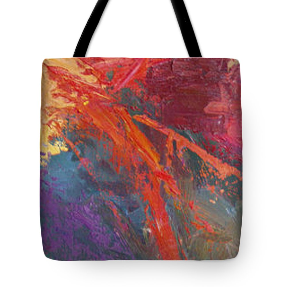 Abstract Tote Bag featuring the painting Abstract 103A by Betty Jean Billups