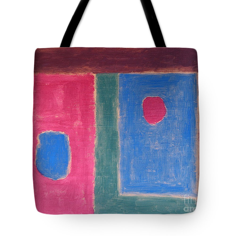 Abstract Tote Bag featuring the painting Abstract 109 by Patrick J Murphy