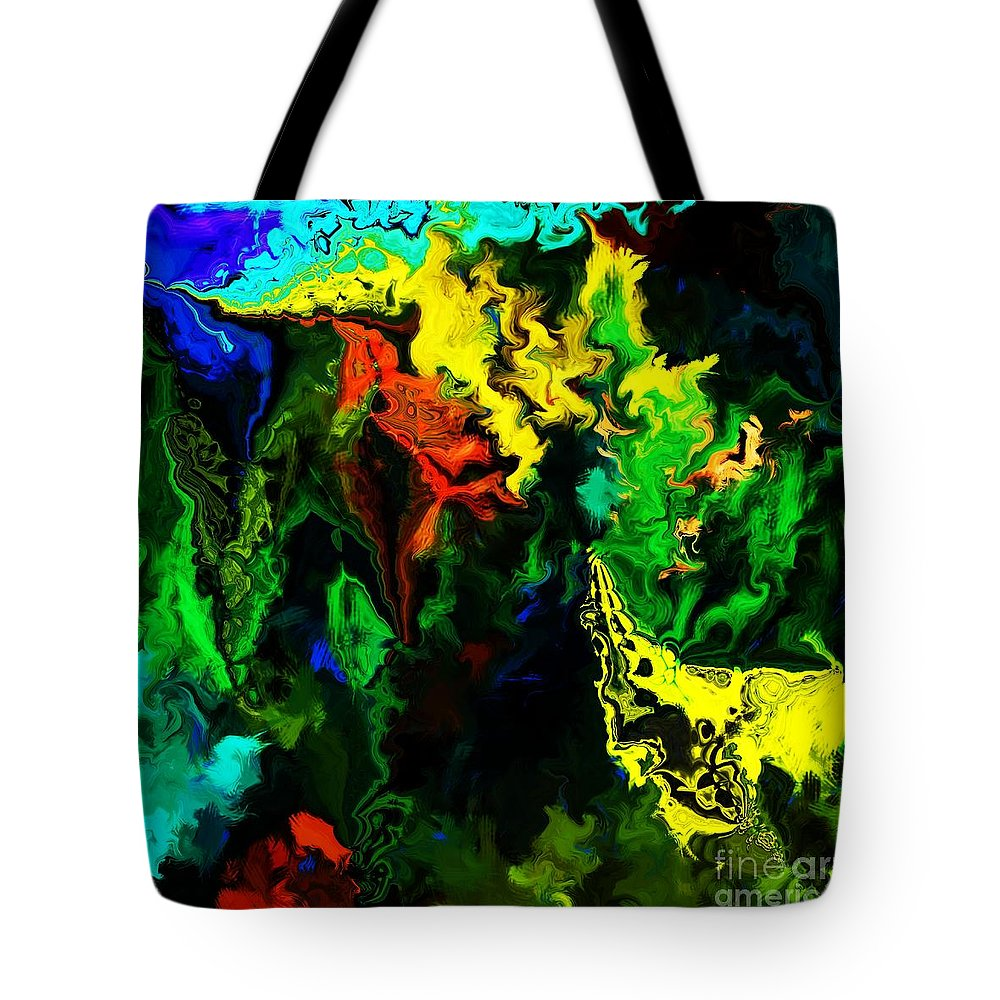 Abstract Tote Bag featuring the digital art Abstract 2-23-09 by David Lane