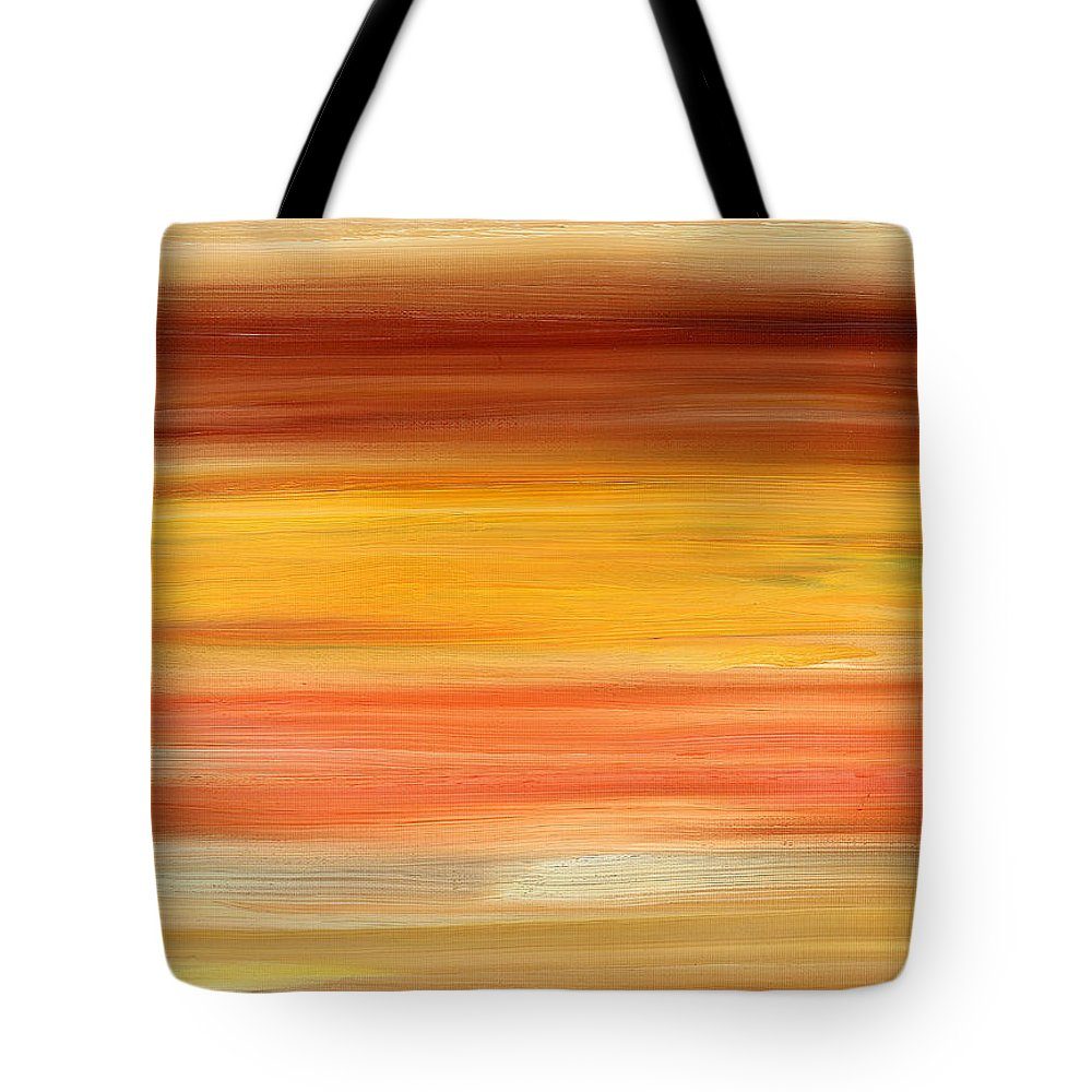 Abstract Tote Bag featuring the painting Abstract 425 by Patrick J Murphy