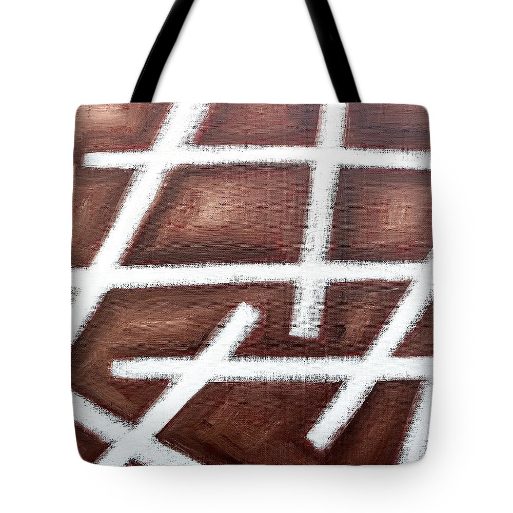Abstract Tote Bag featuring the painting Abstract 459 by Patrick J Murphy
