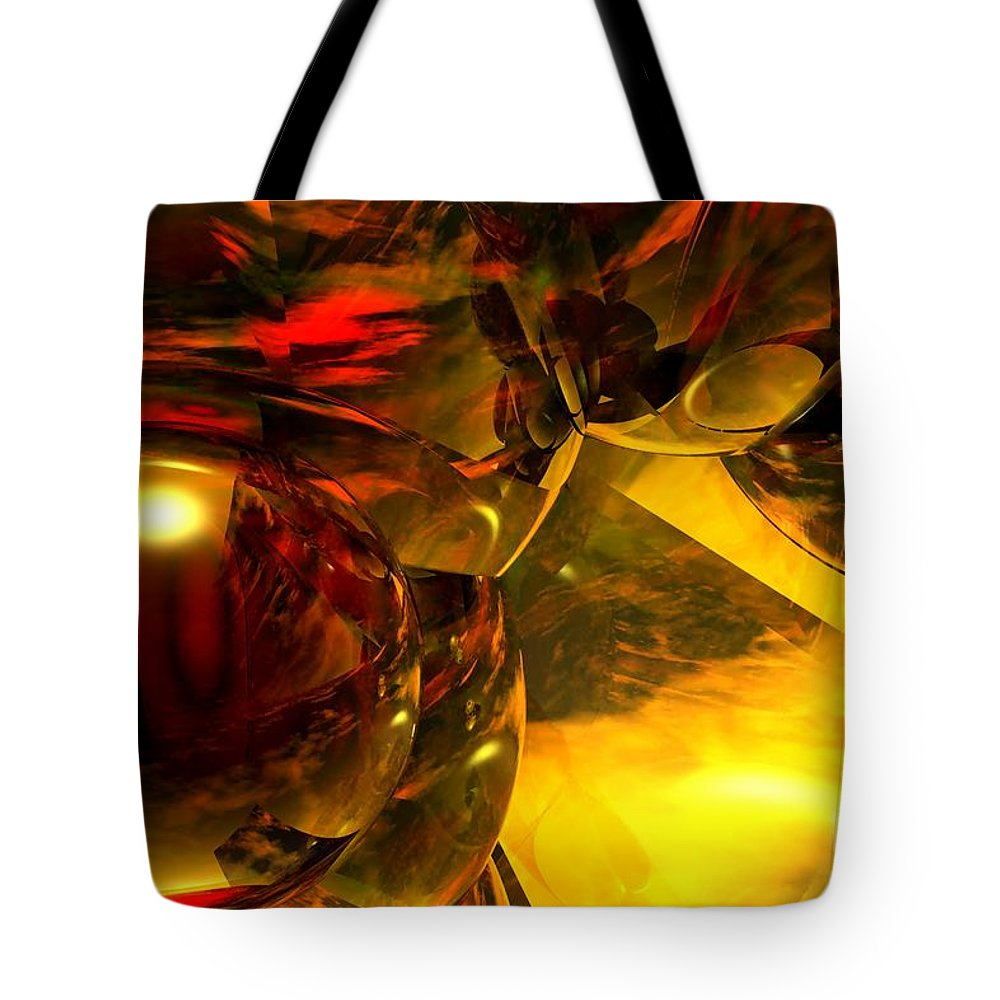 Abstract Tote Bag featuring the digital art Abstract 5-21-09 by David Lane