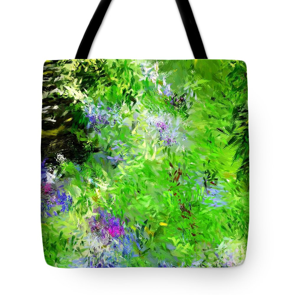 Abstract Tote Bag featuring the digital art Abstract 5-26-09 by David Lane