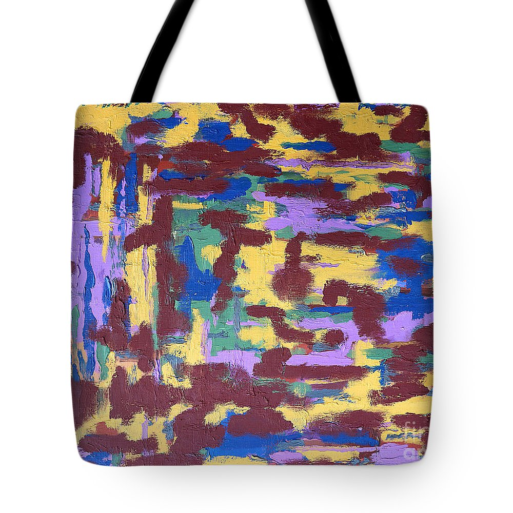 Abstract Tote Bag featuring the painting Abstract 50 by Patrick J Murphy