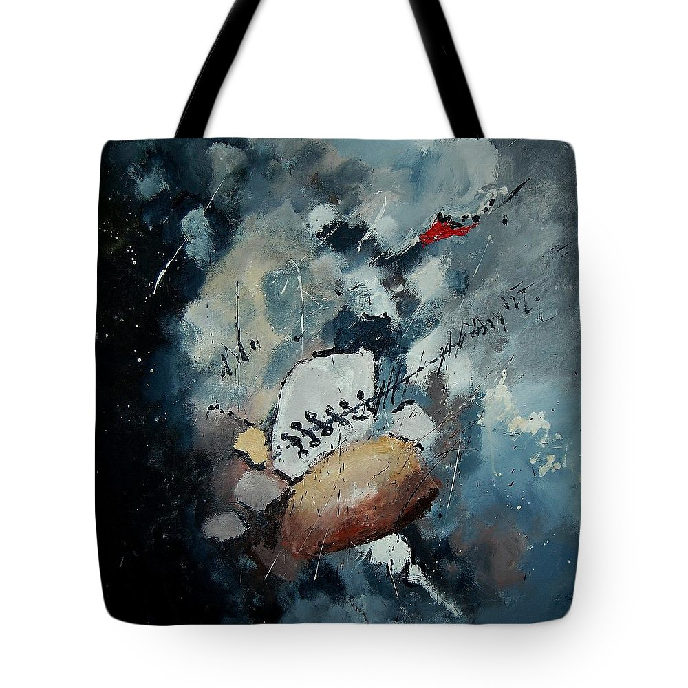 Abstract Tote Bag featuring the painting Abstract 55902192 by Pol Ledent