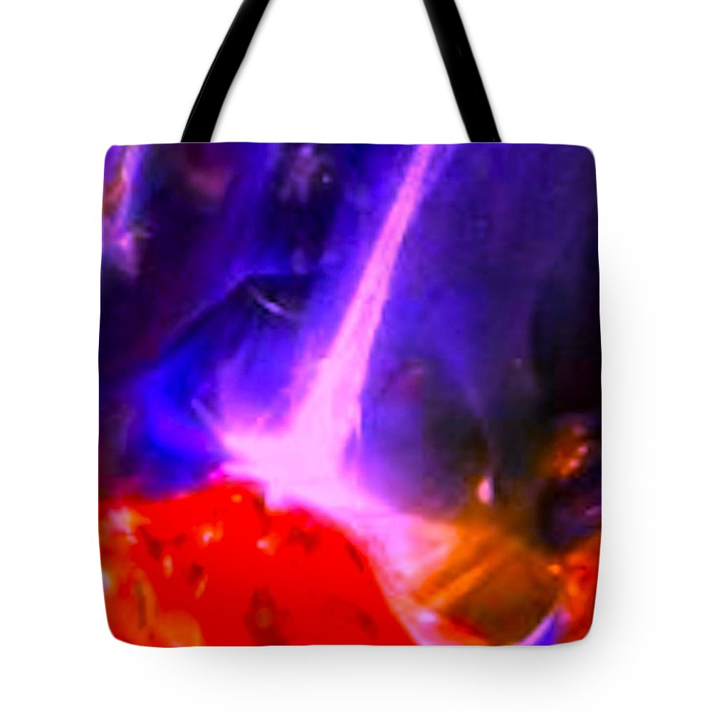 Red Tote Bag featuring the photograph Abstract 5890 by Stephanie Moore
