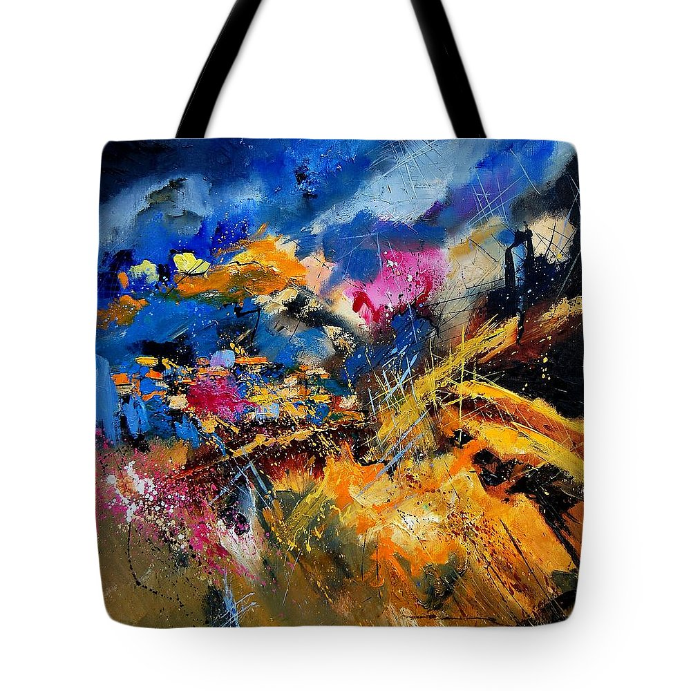 Abstract Tote Bag featuring the painting Abstract 7808082 by Pol Ledent