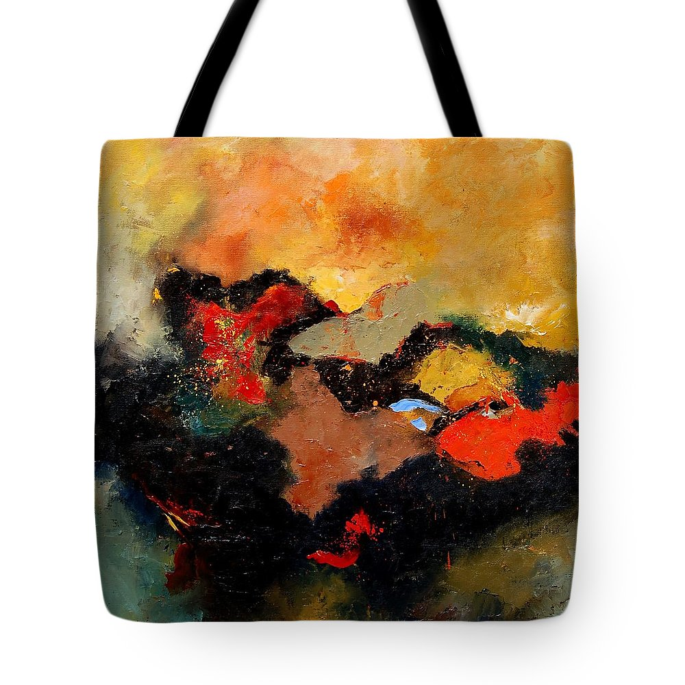 Abstract Tote Bag featuring the painting Abstract 8080 by Pol Ledent