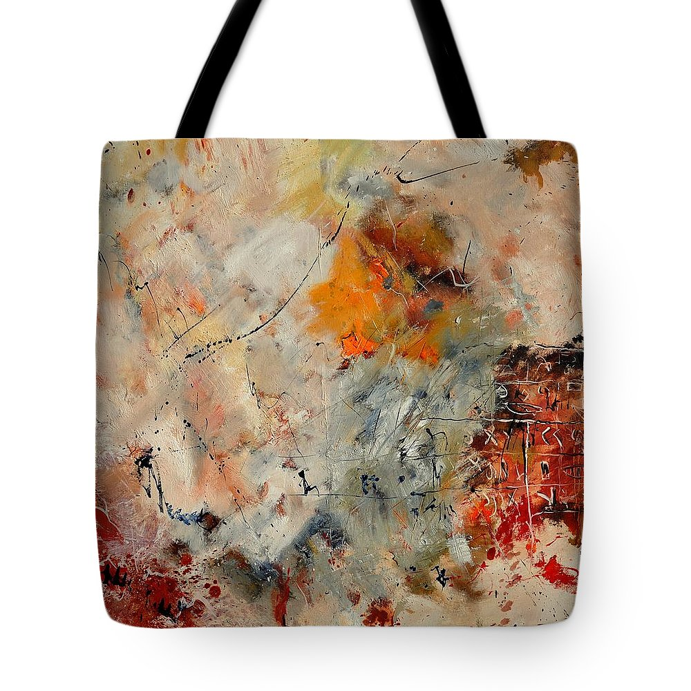 Abstract Tote Bag featuring the painting Abstract 880150 by Pol Ledent