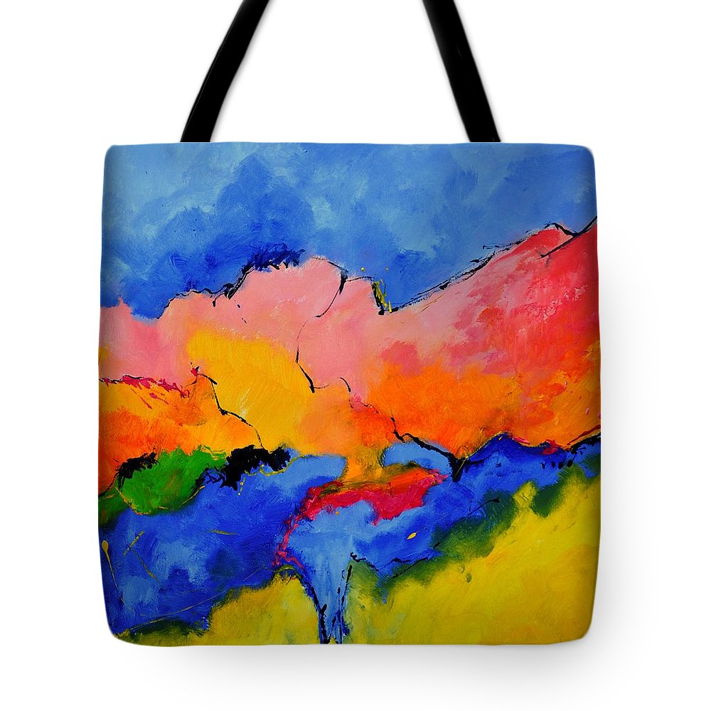 Abstract Tote Bag featuring the painting Abstract 88112060 by Pol Ledent