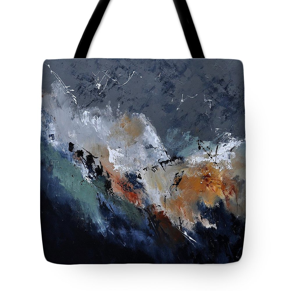 Abstract Tote Bag featuring the painting Abstract 8821901 by Pol Ledent