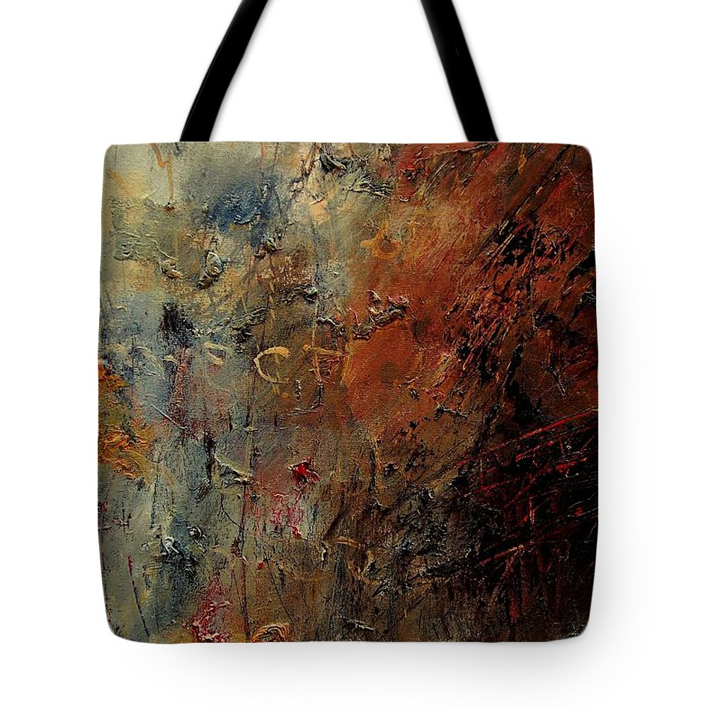 Abstract Tote Bag featuring the painting Abstract 900192 by Pol Ledent
