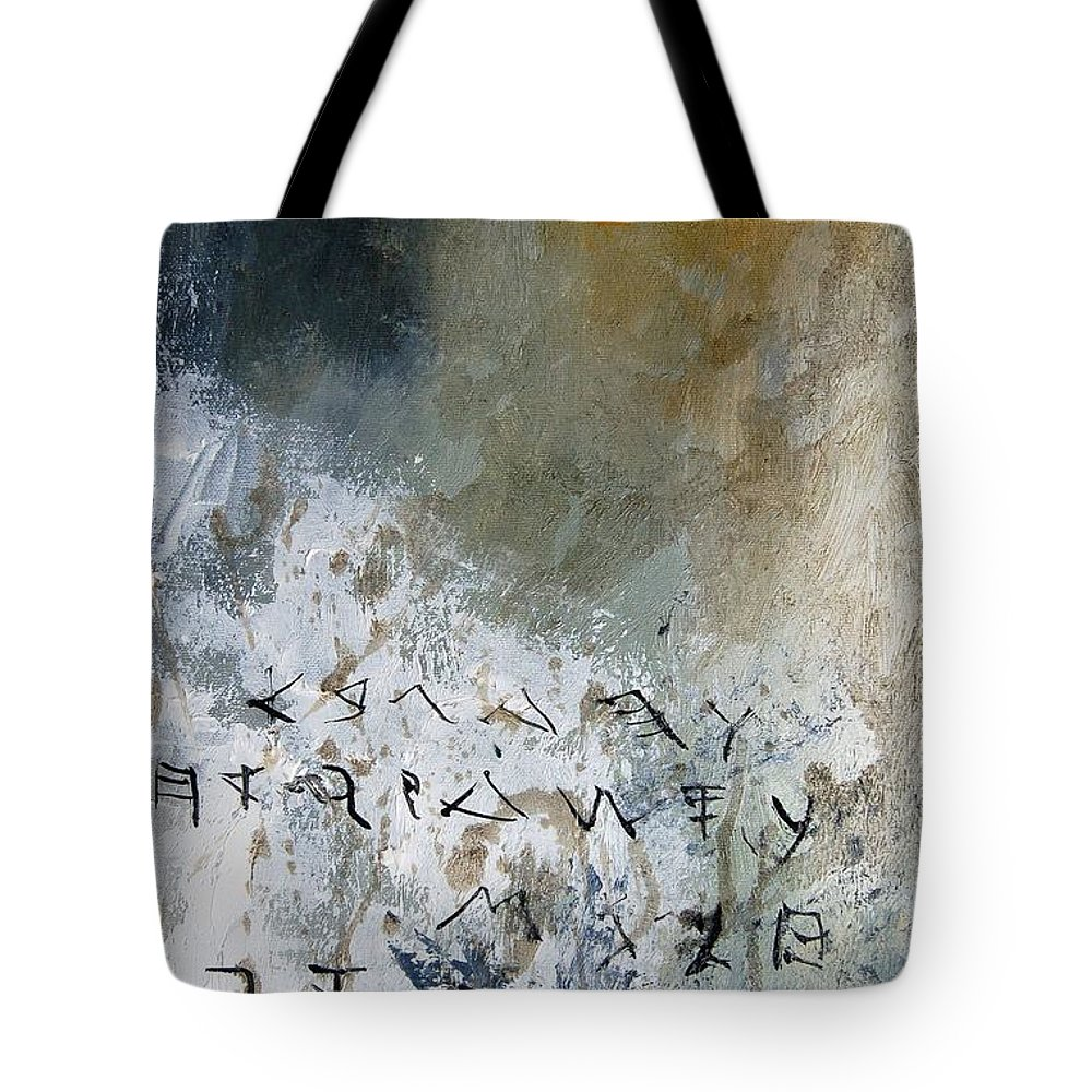 Abstract Tote Bag featuring the painting Abstract 904023 by Pol Ledent