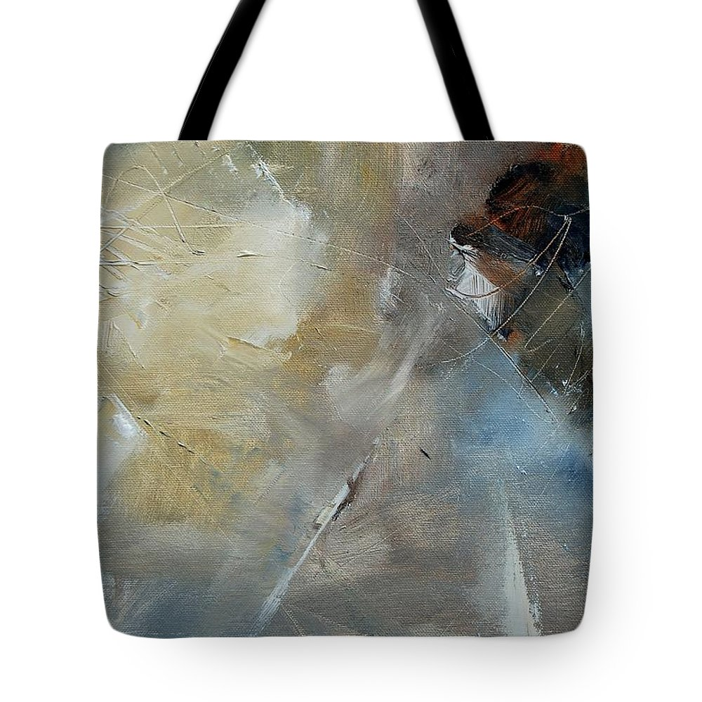 Abstract Tote Bag featuring the painting Abstract 904060 by Pol Ledent