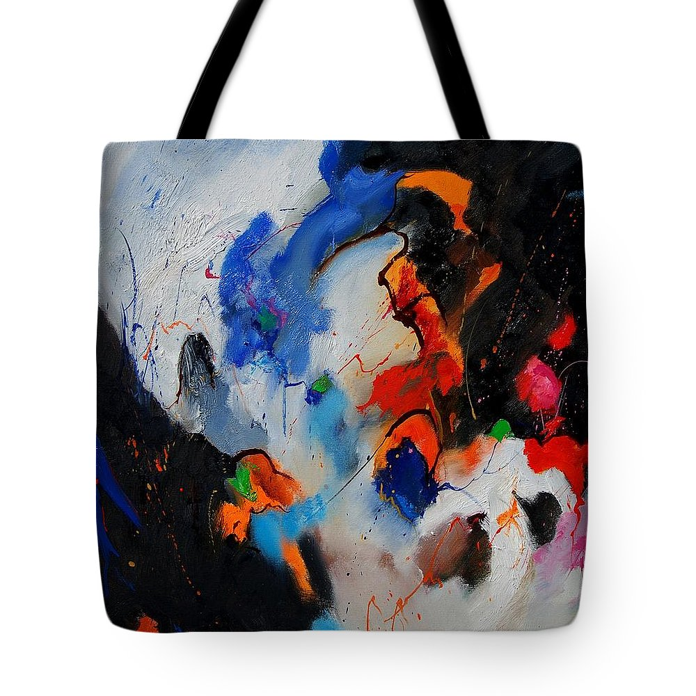 Abstract Tote Bag featuring the painting Abstract 905060 by Pol Ledent