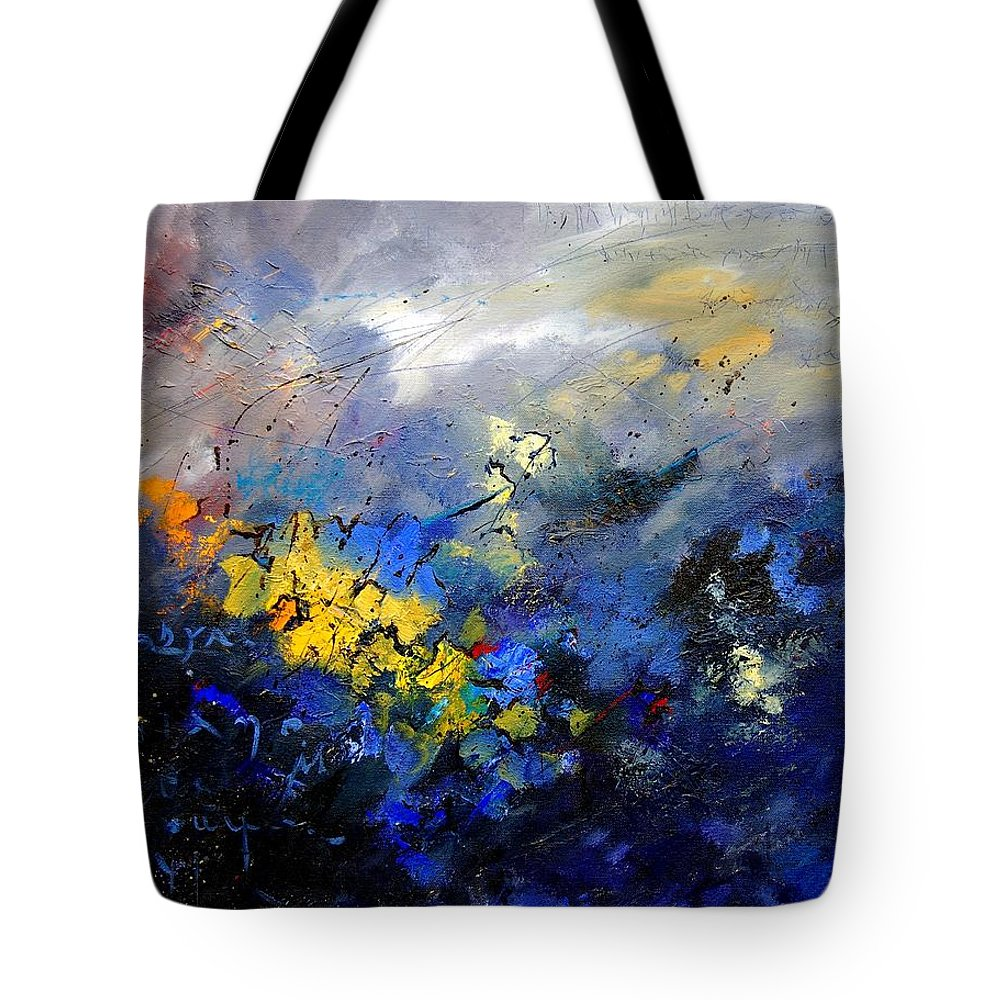 Abstract Tote Bag featuring the painting Abstract 970208 by Pol Ledent