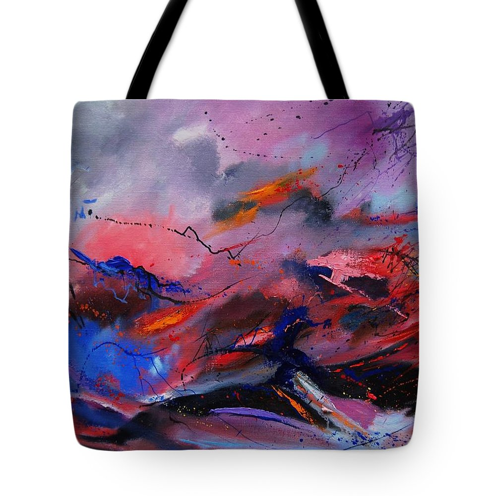 Abstract Tote Bag featuring the painting Abstract 971260 by Pol Ledent