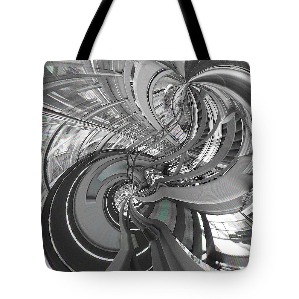 Abstract Tote Bag featuring the digital art Abstract Architecture by Marco De Mooy