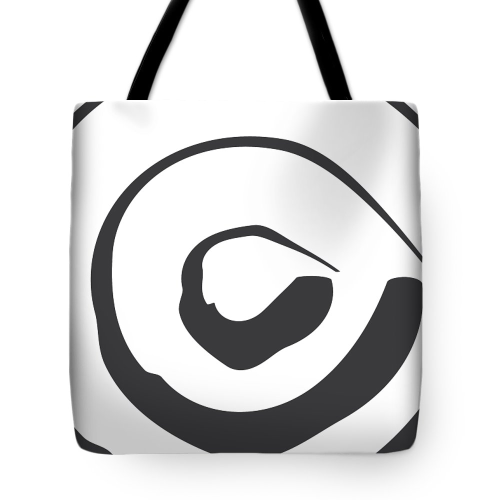 Abstract Tote Bag featuring the digital art Abstract Art Perspective - Circle by Melanie Viola